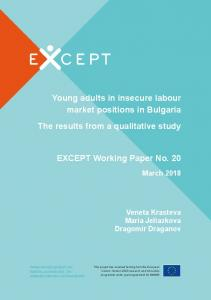 Young adults in insecure labour market positions in Bulgaria The ...
