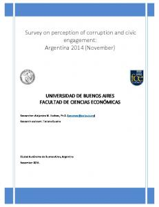 Young Argentines' perception on corruption and ...