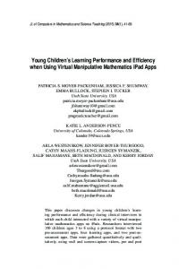 Young Children's Learning Performance and ... - LearnTechLib