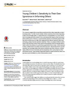 Young Children's Sensitivity to Their Own