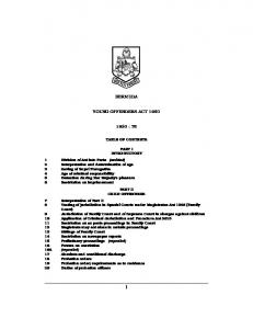 Young Offenders Act 1950 - Bermuda Laws Online
