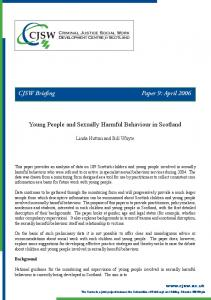 Young People and Sexually Harmful Behaviour in Scotland ... - SECASA
