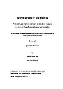 Young people in old politics