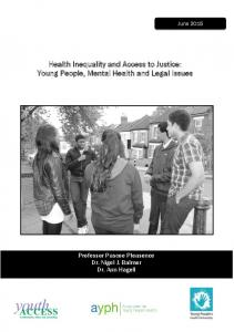 Young People, Mental Health and Legal Issues - The Legal Education ...