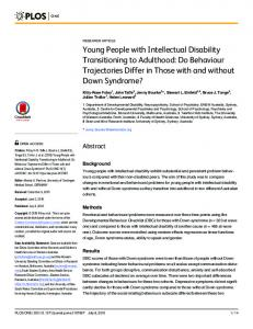 Young People with Intellectual Disability ... - Semantic Scholar