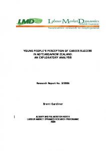 YOUNG PEOPLE'S PERCEPTION OF CAREER SUCCESS IN