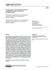 Young women's contraceptive practices: a household ... - Scielo.br