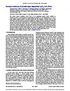 Young's modulus of pulsed-laser deposited V6O13 thin films