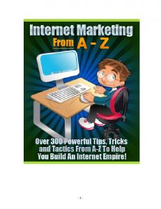 Your A-Z Internet Marketing Reference Guide
