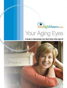 Your Aging Eyes