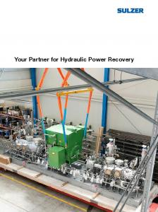 Your Partner for Hydraulic Power Recovery