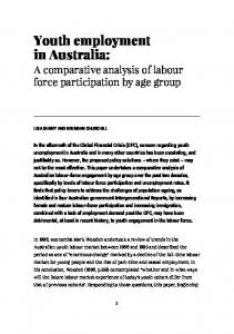 Youth employment in Australia: