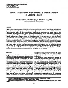 Youth Mental Health Interventions via Mobile Phones: A Scoping Review