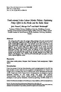 Youth-oriented Active Labour Market Policies ... - Wiley Online Library