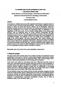 Youth participation in resource-based youth policies ...