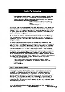 Youth Participation - Youth Coalition of the ACT