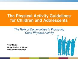 Youth Physical Activity Guidelines - Centers for Disease Control and ...