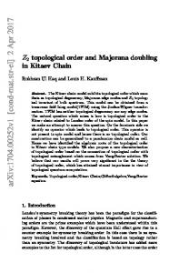 Z/2Z topological order and Majorana doubling in Kitaev Chain