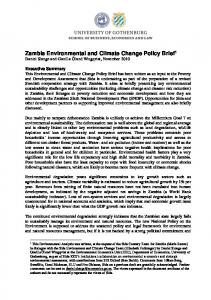 Zambia Environmental and Climate Change Policy