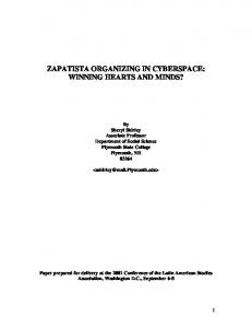 zapatista organizing in cyberspace: winning hearts and minds?