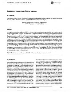 Zearalenone occurrence and human exposure - National Agricultural ...