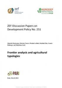 ZEF-Discussion Papers on Development Policy No ... - SSRN papers