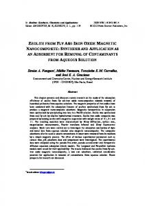 zeolite from fly ash-iron oxide magnetic nanocomposite - Ipen