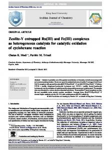 Zeolite-Y entrapped Ru(III) and Fe(III) complexes as