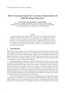 Zero Crossing Counter for Accuracy Improvement of