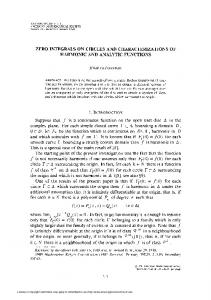 ZERO INTEGRALS ON CIRCLES AND CHARACTERIZATIONS OF ...