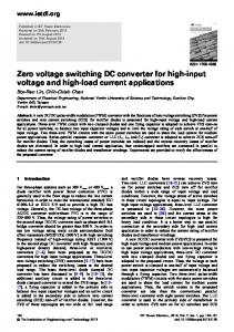 Zero voltage switching DC converter for high-input ... - IEEE Xplore