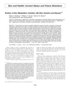 Zinc and Health: Current Status and Future ... - Journal of Nutrition