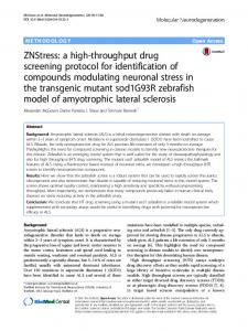 ZNStress: a high-throughput drug screening protocol for identification