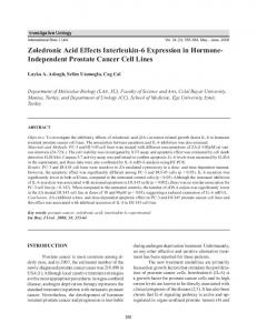 Zoledronic Acid Effects Interleukin-6 Expression in Hormone ...