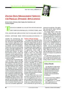 Zoltan data management services for parallel dynamic ... - CiteSeerX
