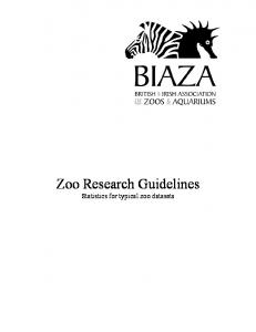 Zoo Research Guidelines - Wingham Wildlife Park