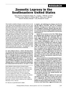 Zoonotic Leprosy in the Southeastern United States - Centers for ...