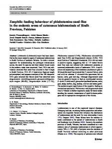 Zoophilic feeding behaviour of phlebotomine sand flies ... - Springer Link