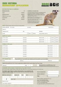 ZOOS VICTORIA MEMBERSHIP APPLICATION