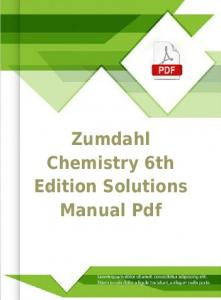 Zumdahl Chemistry 6th Edition Solutions Manual Pdf ...